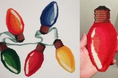 Christmas lightbulb ornaments, 2020