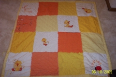 embroidery, hand-quilting, baby blanket, 2003