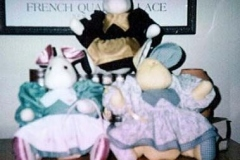 sewing, Mouse House dolls, 1998