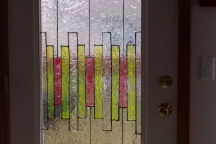 arts & crafts style faux stained glass window, 2000
